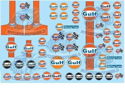 Gulf Racing Decals | Waterslide Decals in all model scales from 1/64 to 1/18