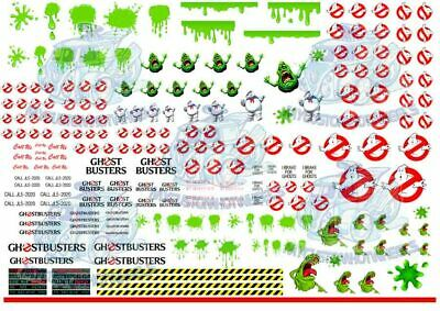 GHOSTBUSTERS ECTO1 PACK - Waterslide Decals for Hot Wheels & 1:64 Model Cars