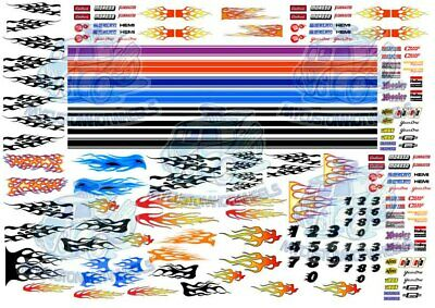 Racing Pack 3 - Flames & GT Stripes | Waterslide Decals in all scales up to 1/24