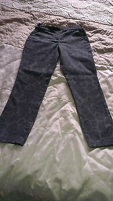NEXT animal print lovely girls trousers/jeans 9 years