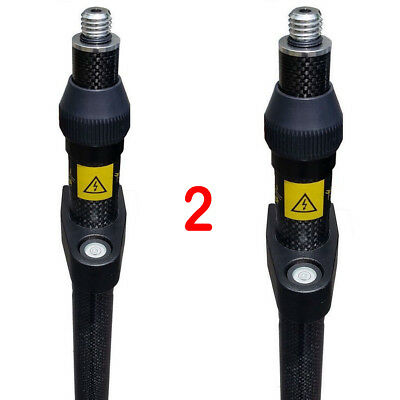 New 2 Meter Three Position Carbon Fiber GPS Pole with Priority Mail