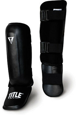 Title Pro Style Shin Instep Guards Muay Thai Kickboxing MMA Sparring Training