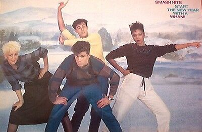 GEORGE MICHAEL / WHAM boys and girls Centerfold magazine POSTER  17x11 inches
