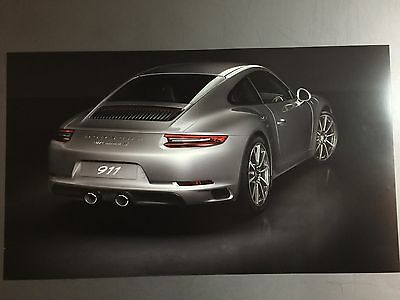 Porsche 911 Carrera S Coupe Showroom Advertising Poster RARE!! Awesome L@@K