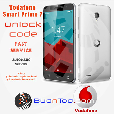 Vodafone Smart Prime 7 Unlock Code Network Pin Uk Ireland Spain Italy Instant24H