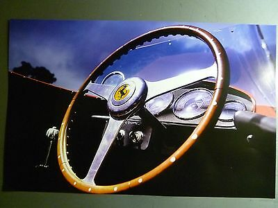 1950 Ferrari 166 MM Spider Steering Wheel Print, Picture, Poster RARE!! Awesome