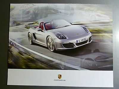 2013 / 2014 Porsche Boxster S Roadster Showroom Advertising Poster Awesome L@@K
