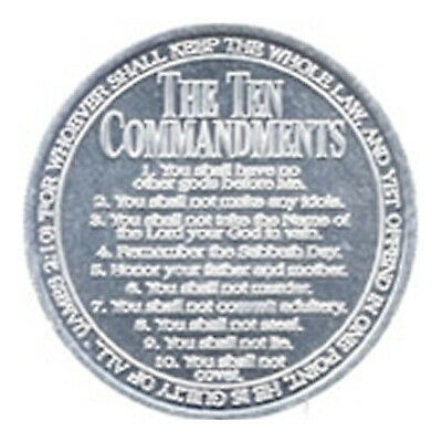 50 x Ten Commandment Coins - Christian Gospel Tract Aluminium Moses 10 Laws Coin