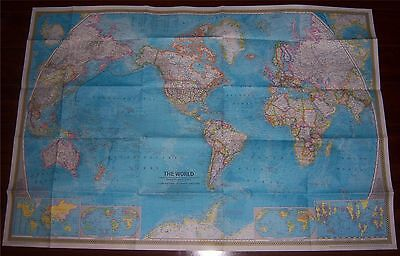National Geographic MAP of The WORLD December 1970 Dec