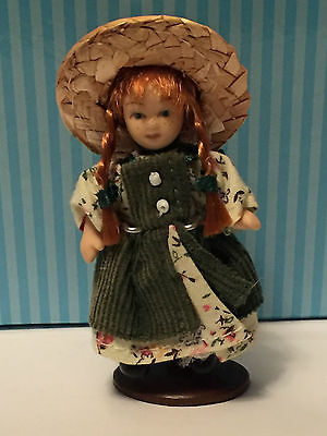 "Anne of Green Gables - 3"" Porcelain Doll with Stand - Miniature Heritage Edition"