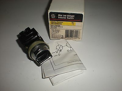 General Electric Cr104B222 Mini Ind Oiltight Selector Switch New