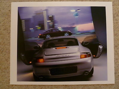1999 Porsche Carrera 4 Coupe Showroom Advertising Poster RARE!! Awesome