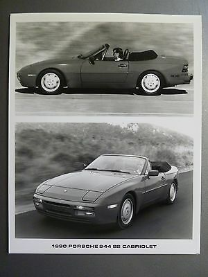 1990 Porsche 944 S2 Cabriolet B&W Press Photo PCNA Issued RARE!! Awesome L@@K