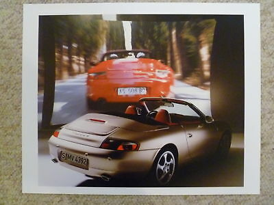 1999 Porsche Carrera 4 Cabriolet Showroom Advertising Poster RARE!! Awesome L@@K