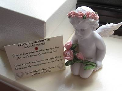 Personalised Bereavement Gift for Female Friend / Relation - Large Angel/Cherub