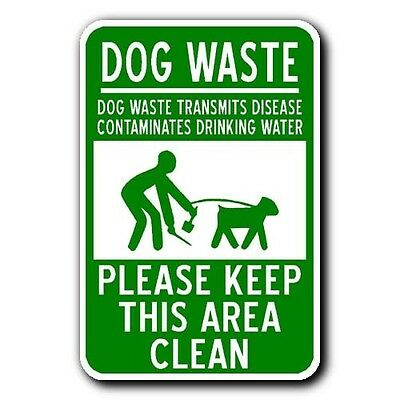 DOG WASTE - PLEASE KEEP THIS AREA CLEAN - Pooper Scooper - 12x18 Metal Sign