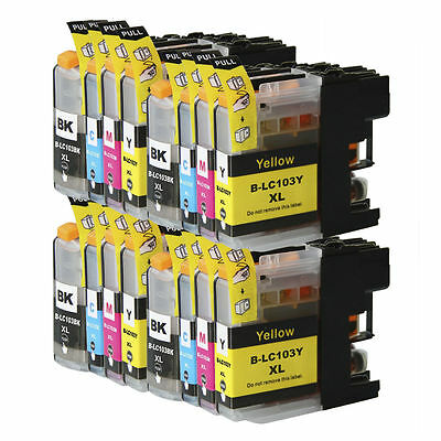 16 Non-Oem Ink Cartridge Brother Lc101 Lc-103Xl Mfc-J4410Dw Mfc-J450Dw Mfc-J4510