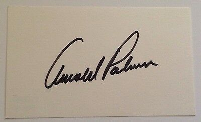 ARNOLD PALMER Signed 3x5 INDEX CARD Masters Golf W/ Psa Dna Coa