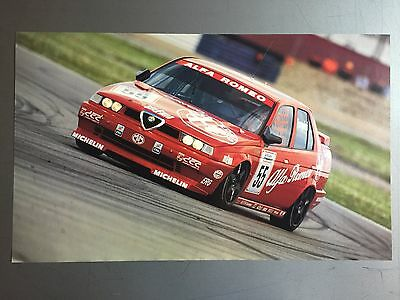 1995 Alfa Romeo Coupe Race Car Print, Picture, Poster RARE!! Awesome L@@K