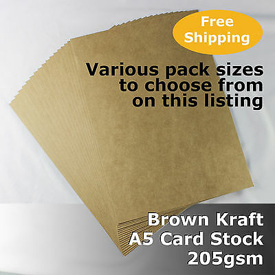 Kraft Brown ReCycled Enviro Card A5 Size 205gsm #S0105