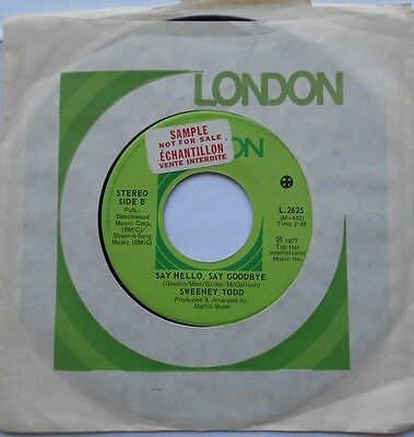 SWEENEY TODD (BRYAN ADAMS 16 years old) Tantalize /Say...CANADA 1977 PROMO 45 7""