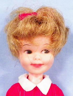 Penny Brite Doll Deluxe Reading Vinyl Red White Dress 8.5in Vintage NICE
