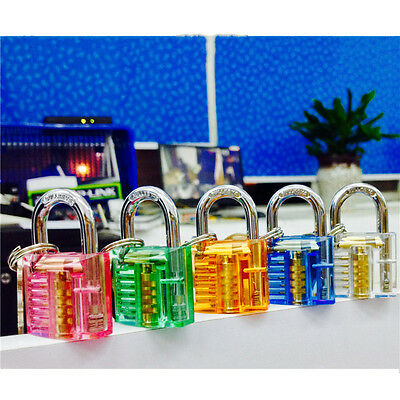 Pick Cutaway Visable Padlock Lock For Locksmith Practice Training Skill Set Kit