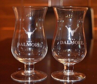 """Set of 2 """"The Dalmore"""" Scotch Whiskey Glasses Stemmed Whisky"""