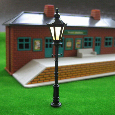 10 x LED Park lanterns Street lamp Modelmaking 1:75 Model railway Gauge HO/OO