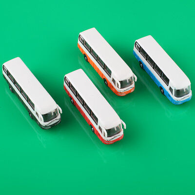 4PCS 1:150 N Scale Colorful Model Cars Bus for Building Layout New