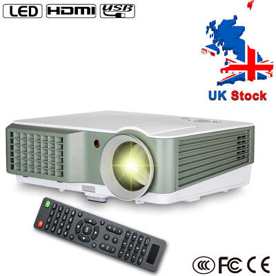 4000lm Multimedia LED Home Cinema Projector 1080p HD Video Weekend Movie Night