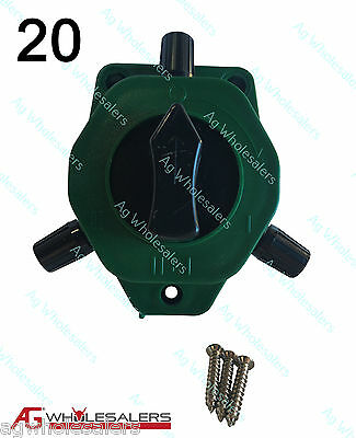 2 Way Cut Out On Off Switch   20 Pack  For Electric Fence Wire Energiser