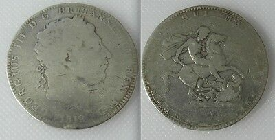 Collectable 1819 King George III Silver Crown Coin Lot 4