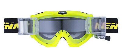 Roll Off Brille Kenny Track Max neon gelb Autocross Motocross Roll-Off