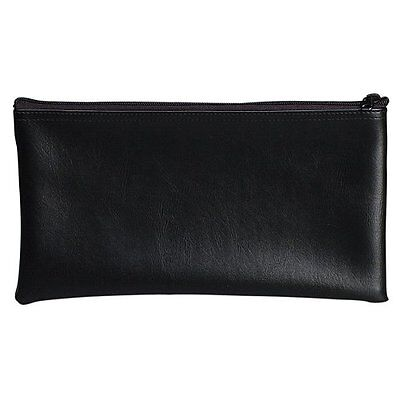 NEW Black Security Bank Deposit / Utility Zipper Coin Bag, 11 X 6 In. by PM Co.