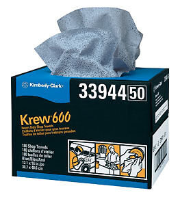 Krew 600 Twin Pop-Up Heavy-Duty Shop Towels Kimberly-Clark 33944 KIM