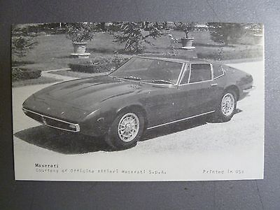 1970 Maserati Ghilbi Coupe Collector Card / Vending Card RARE!! Awesome L@@K