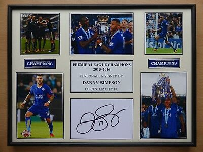 2015-16 Danny Simpson Signed Leicester City Champions Display (8157)