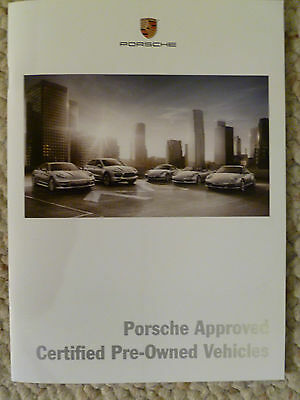 2011 Porsche Certified Pre-Owned Vehicle Brochure RARE!! Awesome L@@K