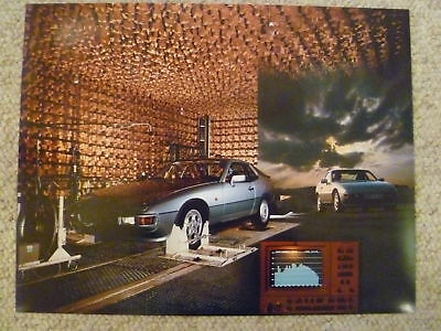 1987 Porsche 924 Coupe Showroom Advertising Poster RARE!! Awesome L@@K