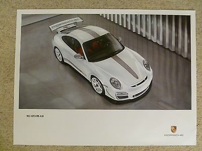 2011 Porsche 911 GT3 RS 4.0 Coupe Showroom Advertising Poster RARE! Awesome L@@K