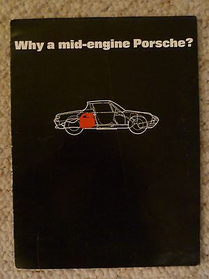 1970 Porsche 914 Roadster Showroom Advertising Sales Brochure RARE! Awesome L@@K