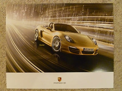 "2012 / 2013 Porsche Boxster ""The New Boxster"" Showroom Advertising Poster L@@K"