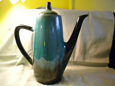Blue Mountain Pottery Large Coffee/tea Pot, 11 Inches Tall With Lid