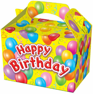 10 Happy Birthday Party Boxes - Food Loot Lunch Cardboard Gift Kids