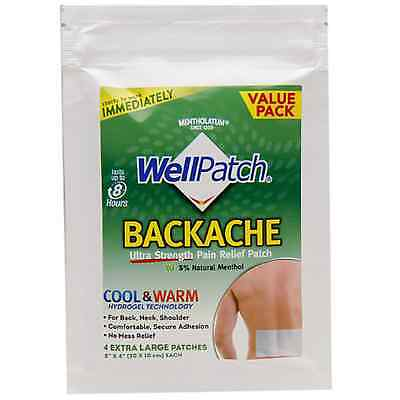 WellPatch Backache Ultra Strength Pain Relief Patch 4 Each (Pack of 3)