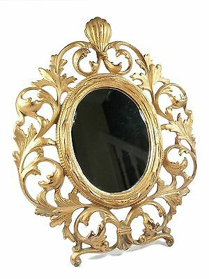 Antique Victorian Gilt Metal Frame with Mirror - Unsigned - Late 19th Century