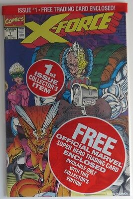 1991 X-Force #1 Polybagged With X-Force Team Card -  Nm               (Inv9445)
