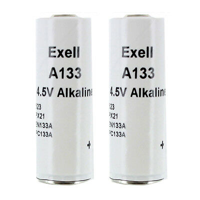 2pc Exell Alkaline Battery A133 Replaces 523 EN133A PC133A PX21 1306AP