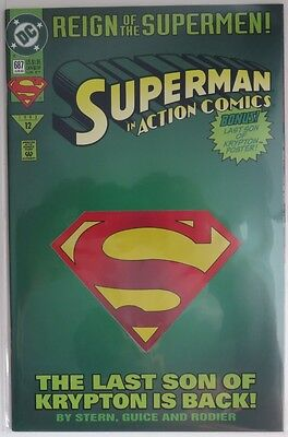 1993 Action Comics #687  Die-Cut Cover  -  Nm             (Inv9130)